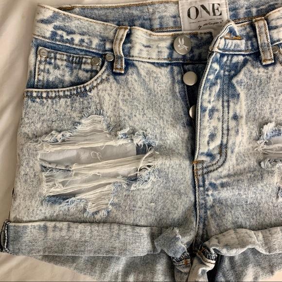 One Teaspoon Pants - ONE by one teaspoon distressed denim shorts